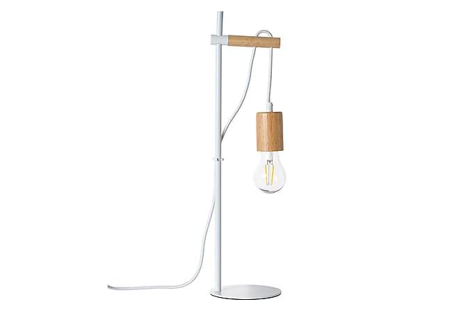 Bordlampe Berhane Dimbar LED - Hvit|Lyst Tre - Belysning - Innendørsbelysning & Lamper - Bordlampe