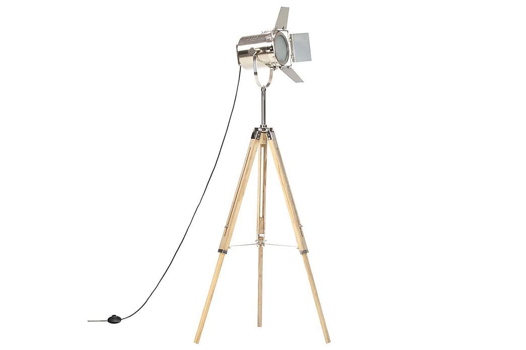 Gulvlampe med stativ heltre mango 140 cm - Belysning - Innendørsbelysning & Lamper - Gulvlampe