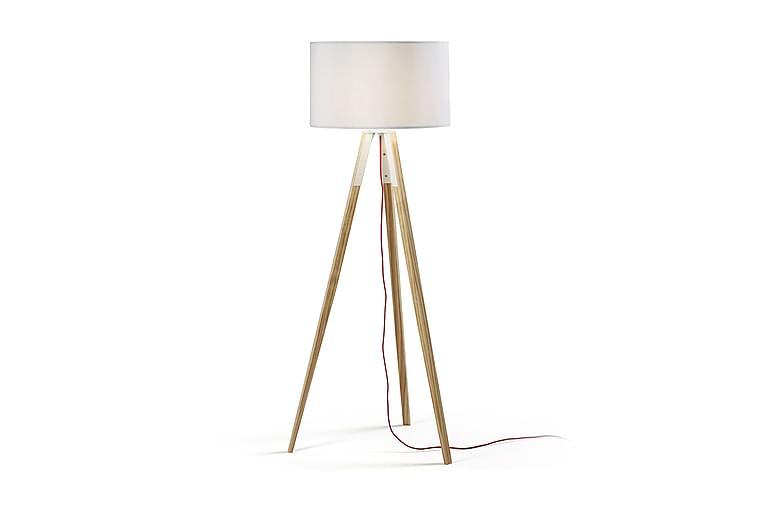 Gulvlampe Uzagi - Hvit|Natur - Belysning - Innendørsbelysning & Lamper - Gulvlampe