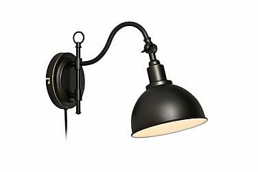 Vegglampe Ekelund Svartbrun
