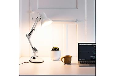 Bordlampe med justerbar arm hvit E27