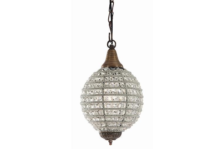 Taklampe Aliza 1 Lys Antikk Bronse/Transparent - AG Home & Light - Belysning - Innendørsbelysning & Lamper - Taklampe