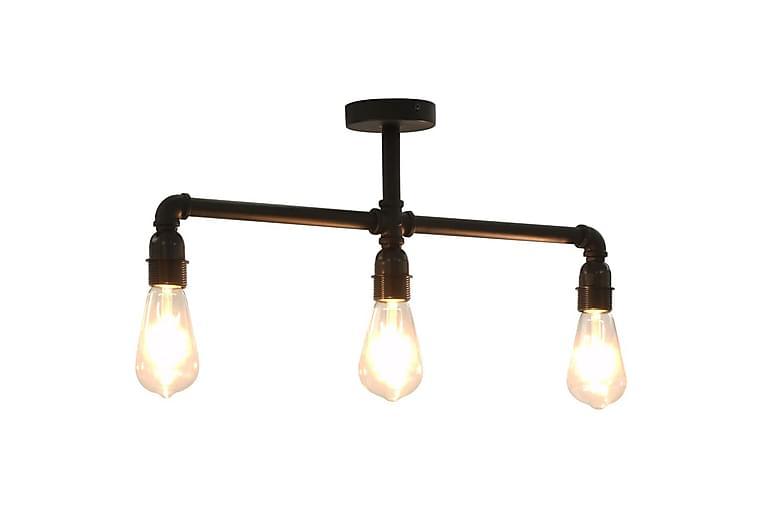 Taklampe svart 3 x E27 lyspӕrer - Svart - Belysning - Innendørsbelysning & Lamper - Taklampe