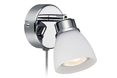 Vegglampe Aon Krom/Opal