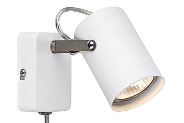 Vegglampe Key Hvit/Stål