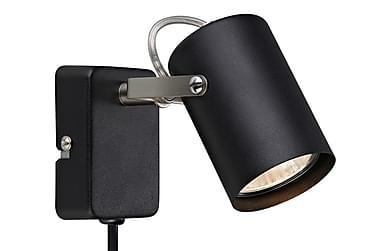 Vegglampe Key Svart/Stål