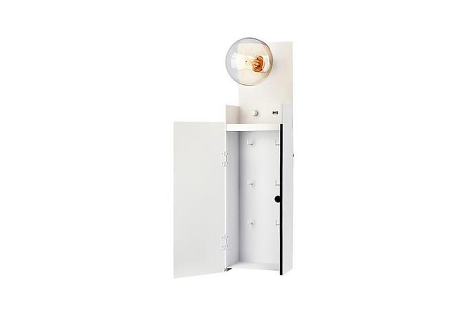Vegglampe Nøkkelskap Combo Hvit