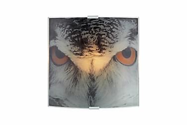 Vegglampe Owl Grå