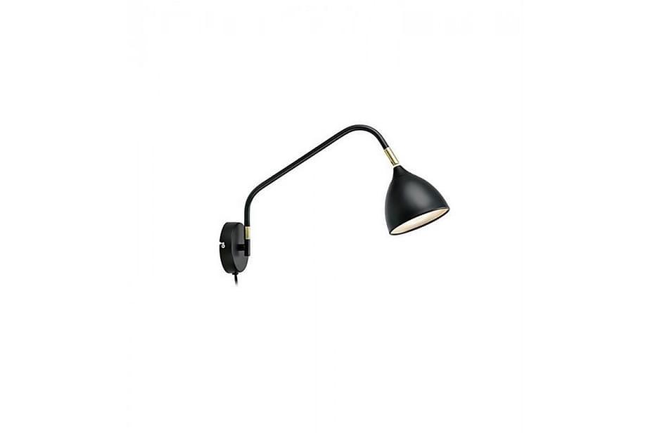 Vegglampe Valencia Svart/Messing