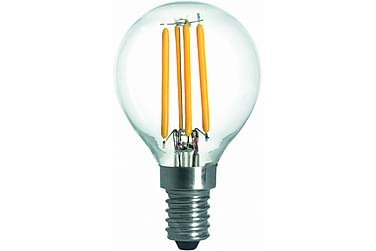 LED-pære Kule 3,6W E14 2700K Dim Filament Klar