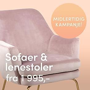 Midlertidig kampanje - Sofaer & Lenestoler