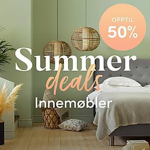 Summer deals - 100-vis av prisnedsatte innemøbler!