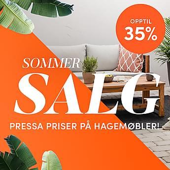 Sommersalg - Opptil 35% på hagemøbler