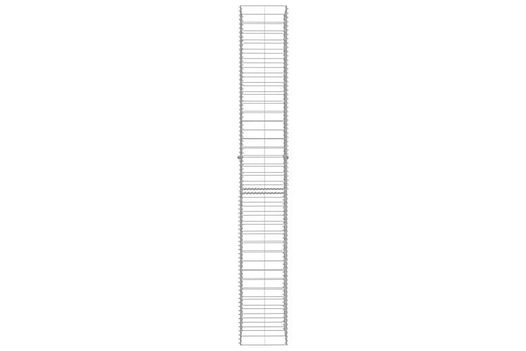 Gabionkurver 3 stk galvanisert stål 25x25x197 cm - Hage - Hagedekorasjon & utemiljø - Gjerder & Grinder
