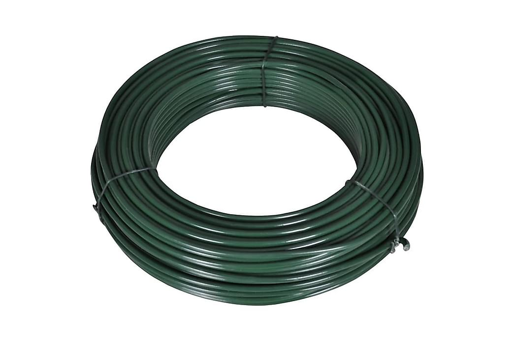 Gjerdetråd 80 m 2,1/3,1 mm stål grønn - Hage - Hagedekorasjon & utemiljø - Gjerder & Grinder