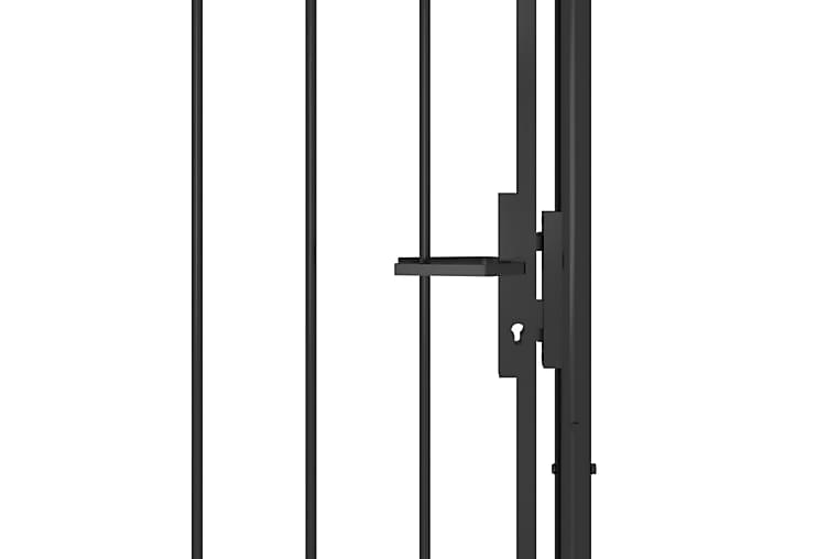 Hageport stål 1x2,5 m svart - Svart - Hage - Hagedekorasjon & utemiljø - Gjerder & Grinder