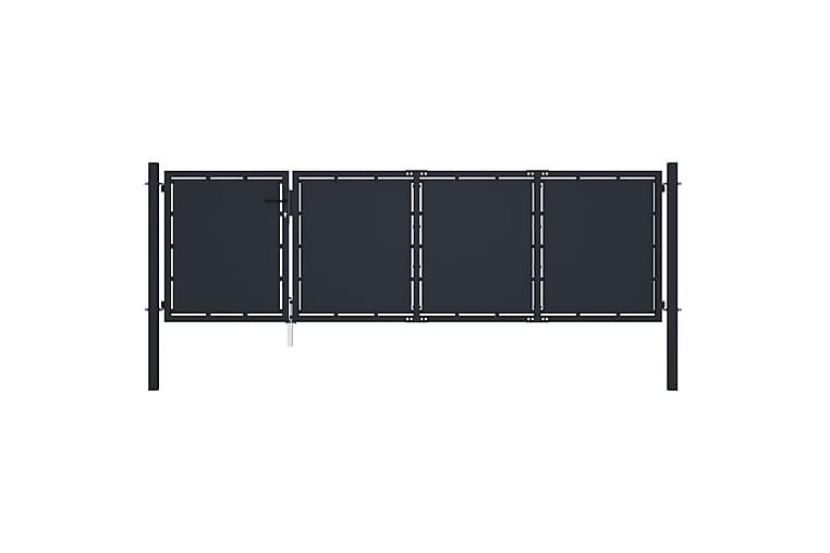 Hageport stål 350x100 cm antrasitt - Hage - Hagedekorasjon & utemiljø - Gjerder & Grinder