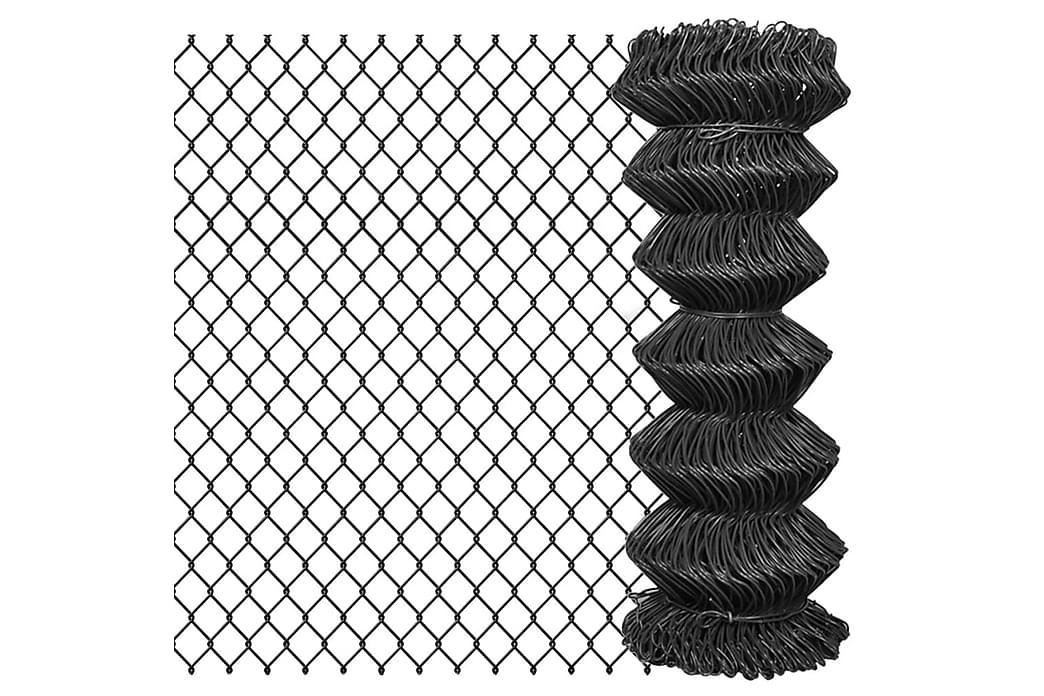 Kjedegjerde stål 25x1 m grå - Hage - Hagedekorasjon & utemiljø - Gjerder & Grinder