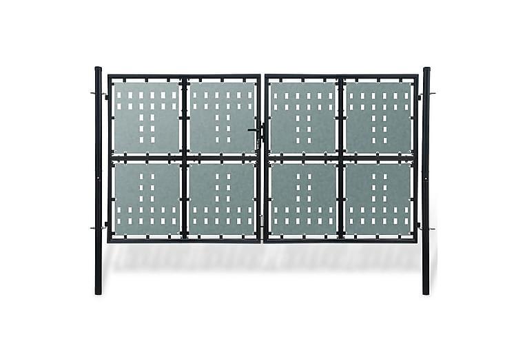 Port dobbel svart 300 x 200 cm - Hage - Hagedekorasjon & utemiljø - Gjerder & Grinder