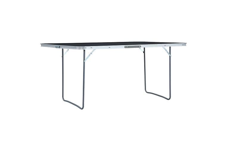Sammenleggbart campingbord grå aluminium 180x60 cm - Hagemøbler - Hagebord - Campingbord