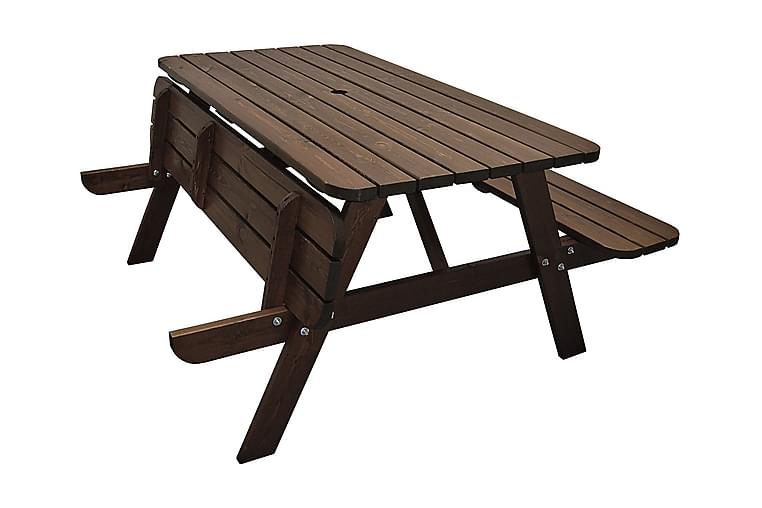 Piknikbord Nancie 158 cm - Mørkebrun - Hagemøbler - Hagebord - Piknikbord