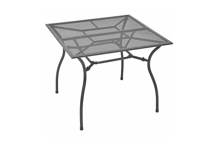 Hagebord 90x90x72 cm stålnetting - Grå - Hagemøbler - Hagebord - Spisebord