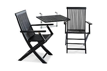 Balkongbord Dalarö 60x52 + 2 Klappstoler med Armlener