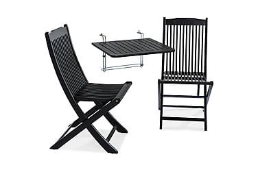 Balkongbord Dalarö 60x52x52 + 2 Klappstoler
