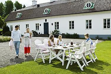 Spisegruppe Hillerstorp Bullerö 90x200 + 6 Posisjonsstoler