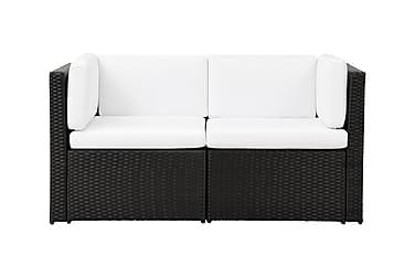 Loungegruppe Rolls Small 1 Svart/Hvit