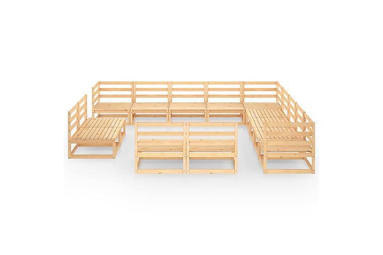 Hagesofagruppe 13 deler heltre furu - Brun - Hagemøbler - Loungemøbler - Loungegrupper
