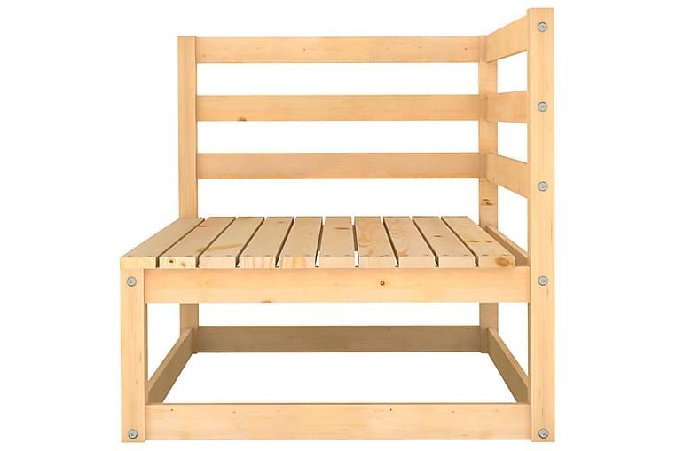 Hagesofagruppe 8 deler heltre furu - Brun - Hagemøbler - Loungemøbler - Loungegrupper