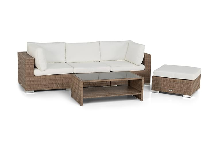 Loungegruppe Bahamas Kunstrotting Sand 4 - Hagemøbler - Loungemøbler - Loungegrupper