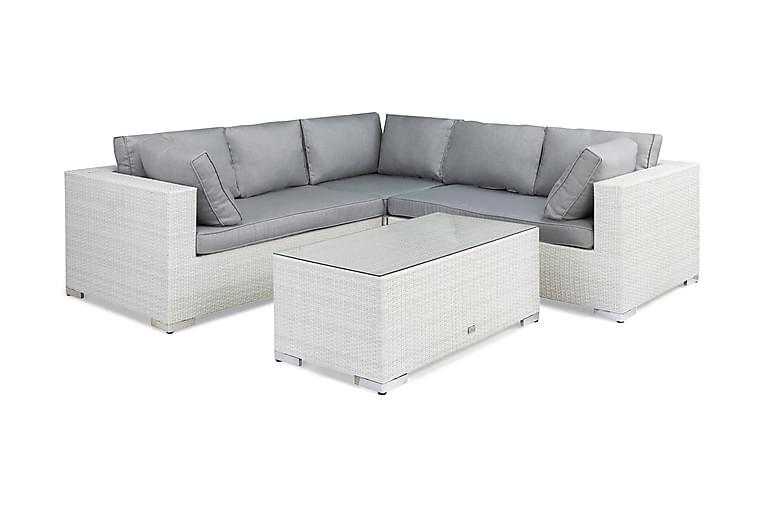 Loungegruppe Bahamas Kunstrotting Vit - Hagemøbler - Loungemøbler - Loungegrupper