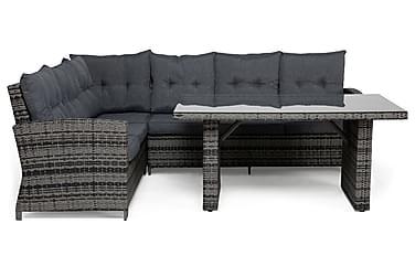 Loungegruppe James Grå/Glass