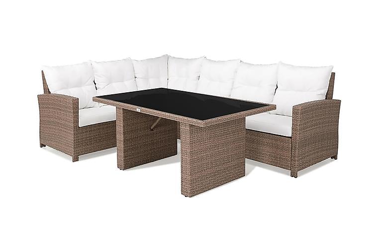 Sofagruppe James Venstre Glass - Sand - Hagemøbler - Loungemøbler - Loungegrupper