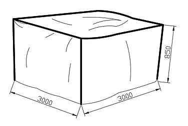 Møbelbeskyttelse Karibib 300x85x300