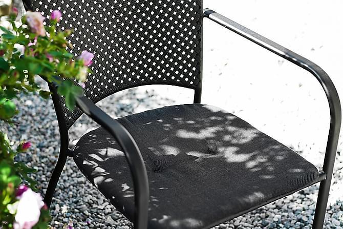 Lenestol i Metall Hillerstorp Glimminge Svart - Svart - Hagemøbler - Velg etter materiale - Aluminium & stål