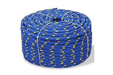 Båttau polypropylen 8 mm 100 m blå