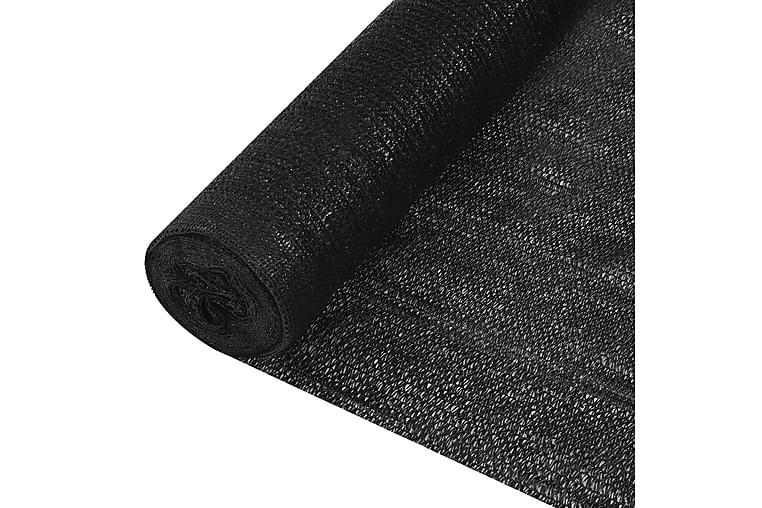 Skjermnett svart 1,5x50 m HDPE 195 g/m² - Svart - Hagemøbler - Solbeskyttelse - Avskjerming & vindskjerm