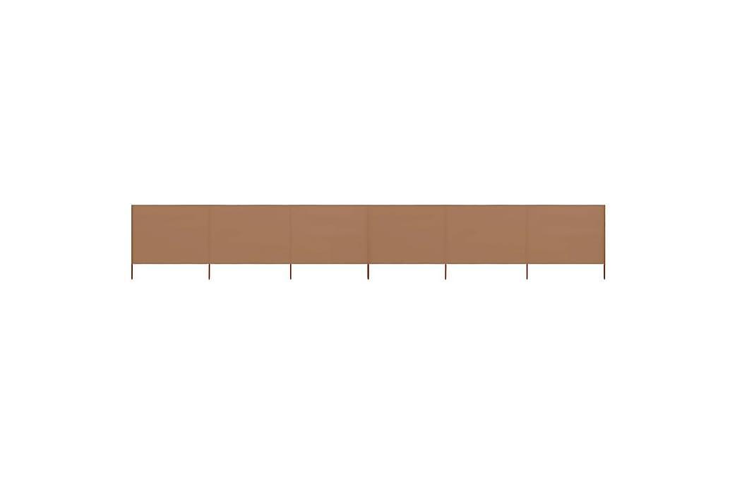Vindskjerm 6 paneler stoff 800x160 cm gråbrun - Brun - Hagemøbler - Solbeskyttelse - Avskjerming & vindskjerm