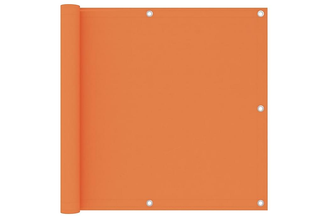 Balkongskjerm oransje 90x500 cm oxfordstoff - Oransj - Hagemøbler - Solbeskyttelse - Balkongbeskyttelse