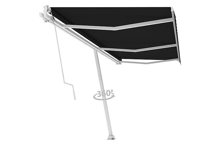 Frittstående automatisk markise 600x300 cm antrasitt - Antrasittgrå - Hagemøbler - Solbeskyttelse - Markiser