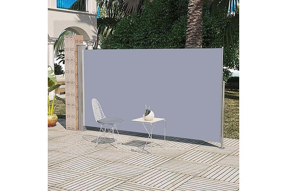 Uttrekkbar sidemarkise 180x300 cm grå