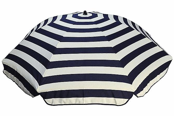 Bomulls parasoll 200 cm - Blå stripe - Hagemøbler - Solbeskyttelse - Parasoller
