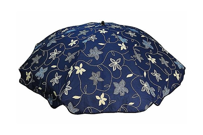 Bomulls parasoll 200 cm:Deco blå - Deco Blå - Hagemøbler - Solbeskyttelse - Parasoller