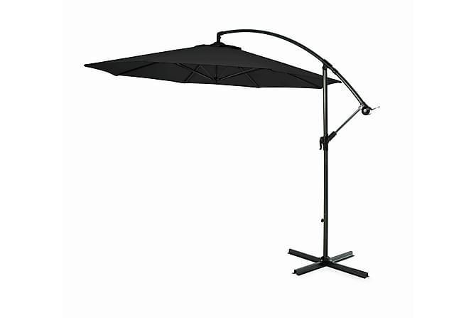 Hengeparasoll 300cm - Svart - Hagemøbler - Solbeskyttelse - Parasoller