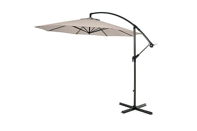 Hengeparasoll Hillerstorp 300 cm - Beige - Hagemøbler - Solbeskyttelse - Parasoller