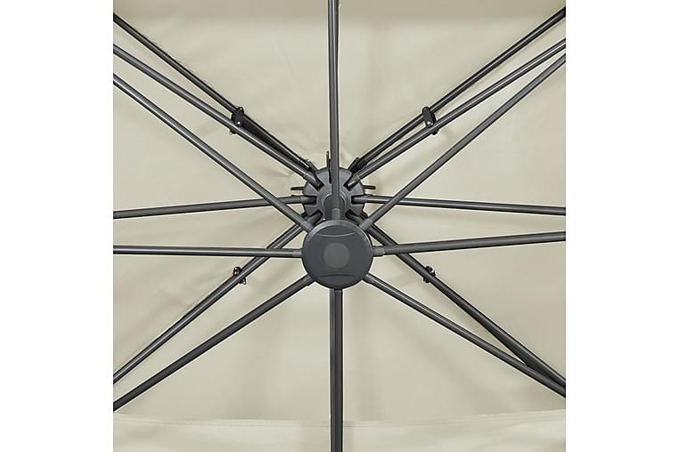 Hengeparasoll med dobbel topp 400x300 cm sand - Hagemøbler - Solbeskyttelse - Parasoller