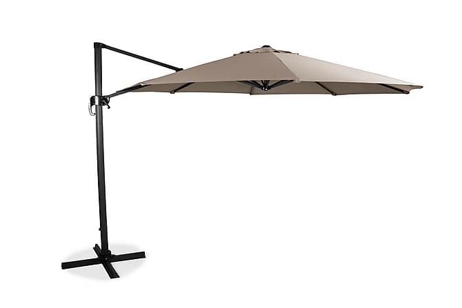 Hengeparasoll XL 350cm - Beige - Hagemøbler - Solbeskyttelse - Parasoller